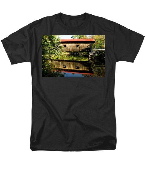Warner Covered Bridge Men's T-Shirt  (Regular Fit) by Greg Fortier