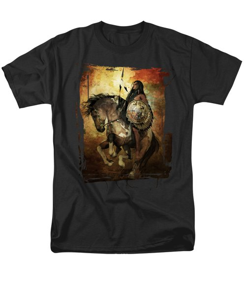Men's T-Shirt  (Regular Fit) featuring the digital art Warrior by Shanina Conway