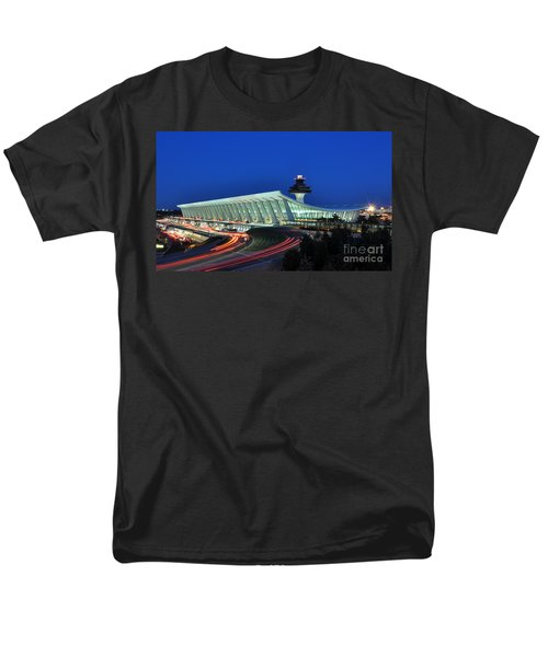 Washington Dulles International Airport At Dusk Men's T-Shirt  (Regular Fit) by Paul Fearn