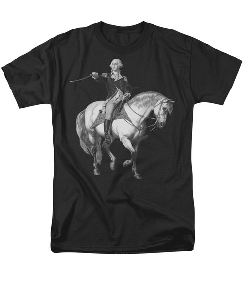 Washington Receiving A Salute At Trenton Men's T-Shirt  (Regular Fit) by War Is Hell Store
