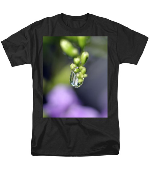 Men's T-Shirt  (Regular Fit) featuring the photograph Water Droplet Iv by Richard Rizzo
