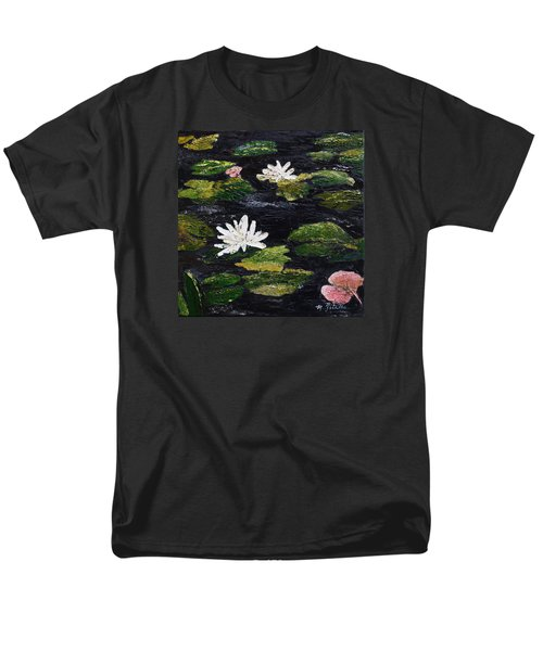 Men's T-Shirt  (Regular Fit) featuring the painting Water Lilies IIi by Marilyn Zalatan