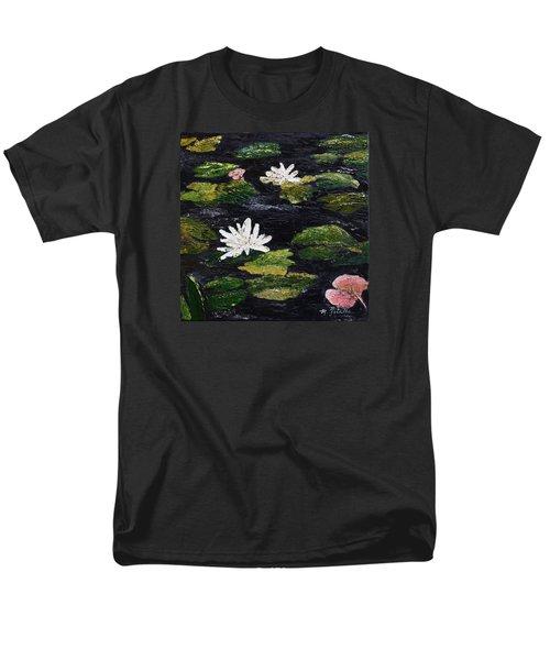 Water Lilies IIi Men's T-Shirt  (Regular Fit) by Marilyn Zalatan