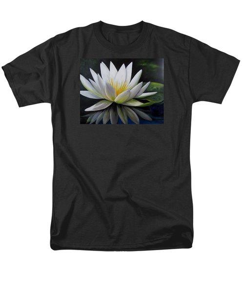 Water Lilly  Men's T-Shirt  (Regular Fit) by Katia Aho