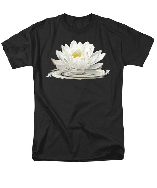Water Lily Whirl Men's T-Shirt  (Regular Fit) by Gill Billington