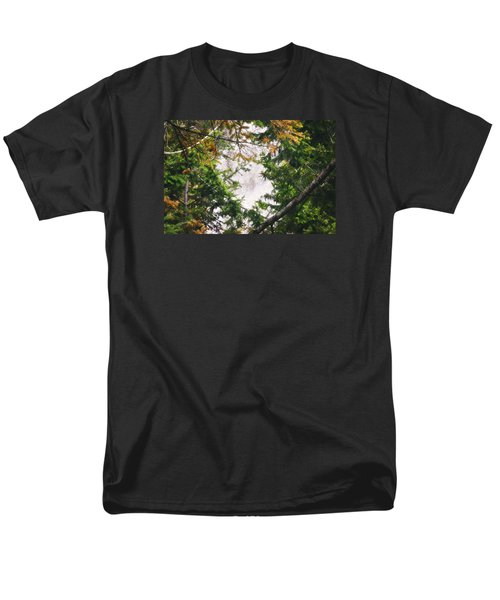Men's T-Shirt  (Regular Fit) featuring the photograph Waterfall Calling My Name by Janie Johnson