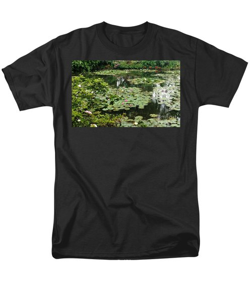 Men's T-Shirt  (Regular Fit) featuring the photograph Waterlilies At Monet's Gardens Giverny by Therese Alcorn