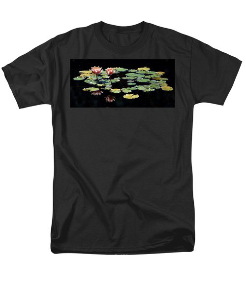 Men's T-Shirt  (Regular Fit) featuring the painting Waterlily Panorama by Marilyn Smith