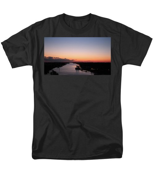 Waterway Sunset #1 Men's T-Shirt  (Regular Fit)
