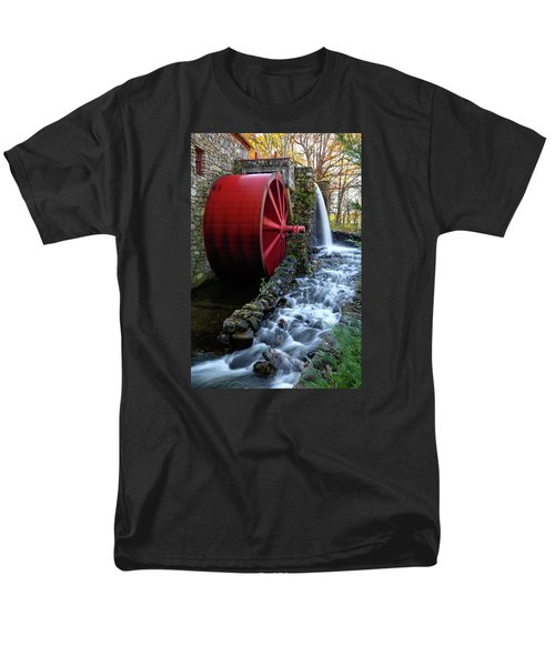 Wayside Inn Grist Mill Water Wheel Men's T-Shirt  (Regular Fit) by Betty Denise