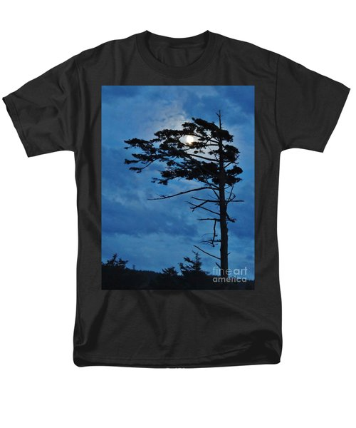 Men's T-Shirt  (Regular Fit) featuring the photograph Weathered Moon Tree by Michele Penner