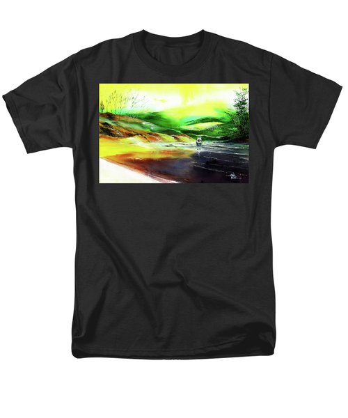 Men's T-Shirt  (Regular Fit) featuring the painting Welcome Back by Anil Nene