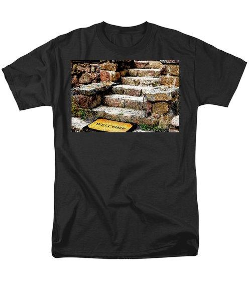Welcome Steps Men's T-Shirt  (Regular Fit) by Deborah Nakano