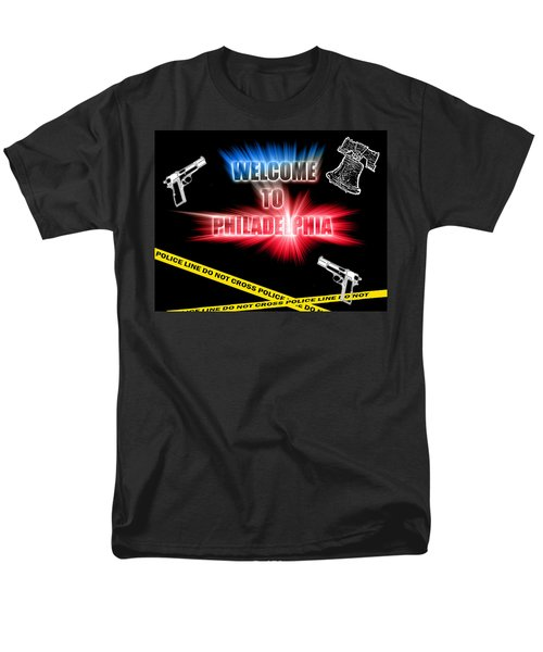Men's T-Shirt  (Regular Fit) featuring the photograph Welcome To Philadelphia by Christopher Woods