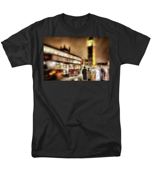 Men's T-Shirt  (Regular Fit) featuring the photograph Westminster Bridge In Rain by Jim Albritton