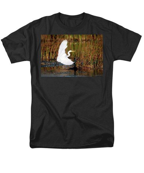 Wetland Landing Men's T-Shirt  (Regular Fit) by Ray Congrove