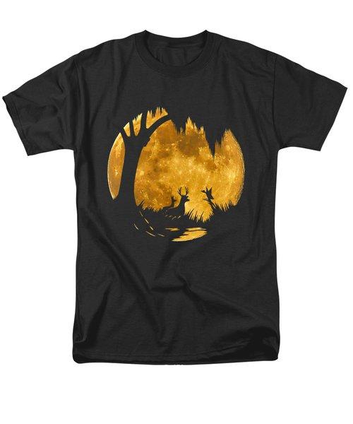 Wetland Wildlife Massive Moon .png Men's T-Shirt  (Regular Fit)