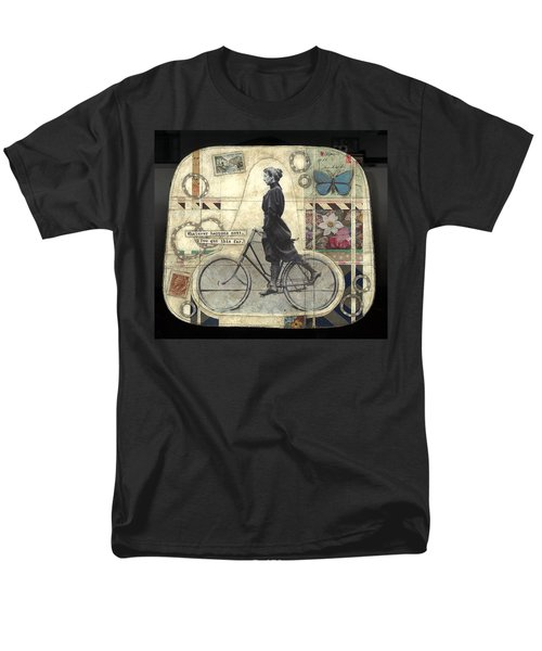 Men's T-Shirt  (Regular Fit) featuring the painting Whatever Happens by Casey Rasmussen White