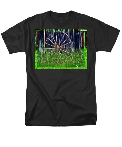 Men's T-Shirt  (Regular Fit) featuring the photograph Wheel Of Fortune by EricaMaxine  Price
