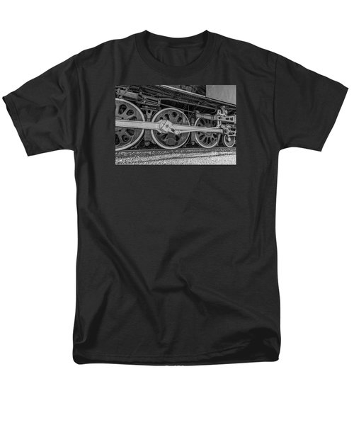Wheels On A Locomotive Men's T-Shirt  (Regular Fit) by Sue Smith