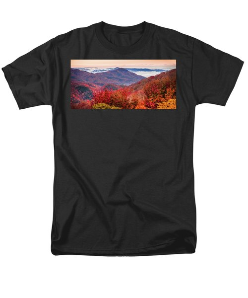 Men's T-Shirt  (Regular Fit) featuring the photograph When Mountains Sing by Karen Wiles