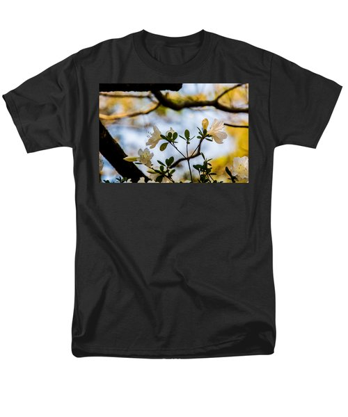 Men's T-Shirt  (Regular Fit) featuring the photograph Whie Azaleas Under A Dogwood Tree by John Harding