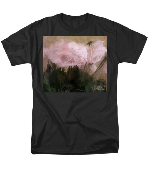 Men's T-Shirt  (Regular Fit) featuring the digital art Whisper Of Pink Peonies by Alexis Rotella