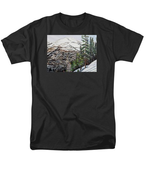 Men's T-Shirt  (Regular Fit) featuring the painting Whispering Pines by Marilyn  McNish