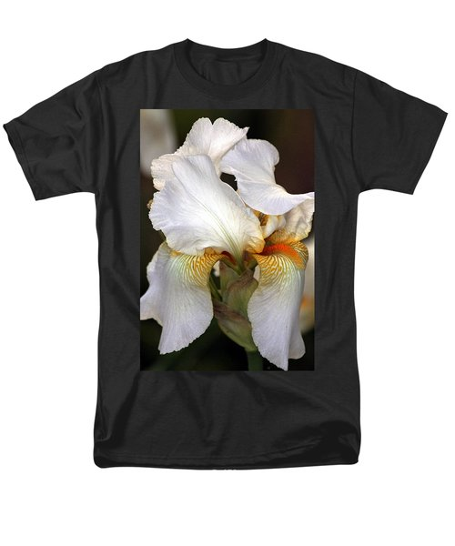 Men's T-Shirt  (Regular Fit) featuring the photograph White Bearded Iris by Sheila Brown