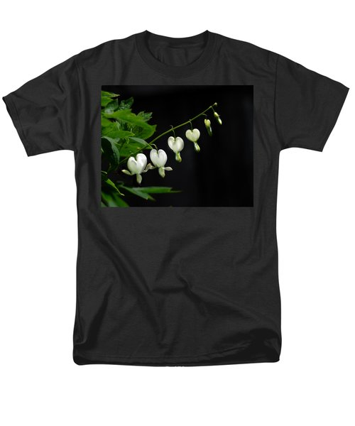 Men's T-Shirt  (Regular Fit) featuring the photograph White Bleeding Hearts by Susan Capuano