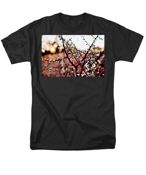 White Blossom Branches Men's T-Shirt  (Regular Fit) by Carol Crisafi