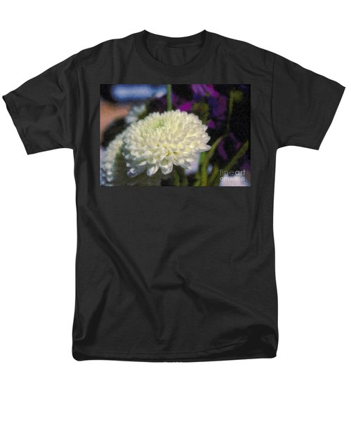 Men's T-Shirt  (Regular Fit) featuring the photograph White Chrysanthemum Flower by David Zanzinger