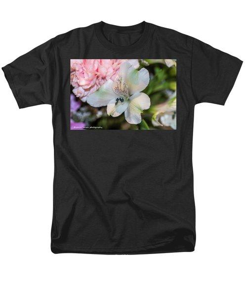 White Flower Men's T-Shirt  (Regular Fit) by Nance Larson