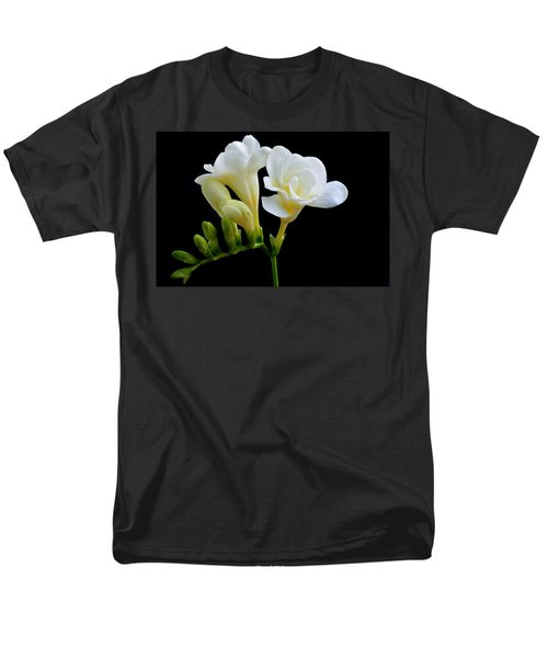 White Freesia Men's T-Shirt  (Regular Fit) by Terence Davis