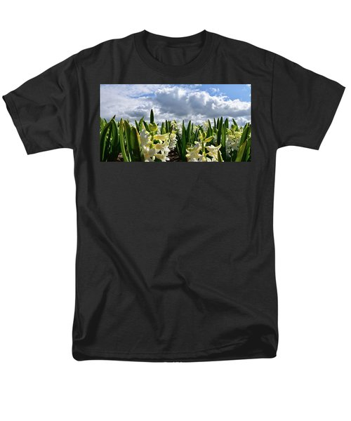 White Hyacinth Field Men's T-Shirt  (Regular Fit) by Mihaela Pater