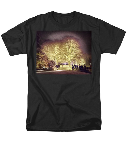 Men's T-Shirt  (Regular Fit) featuring the photograph White Light Christmas by Phil Abrams