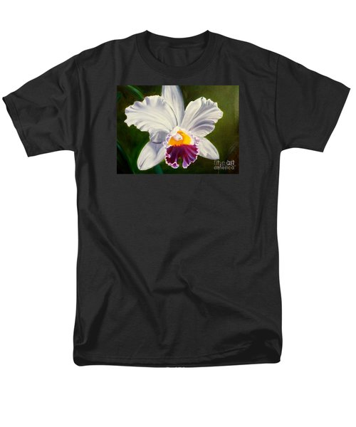 Men's T-Shirt  (Regular Fit) featuring the painting White Orchid by Jenny Lee