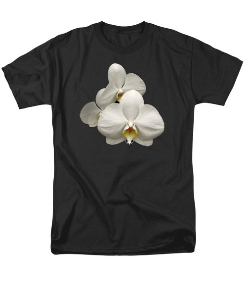 White Orchids Men's T-Shirt  (Regular Fit) by Rose Santuci-Sofranko