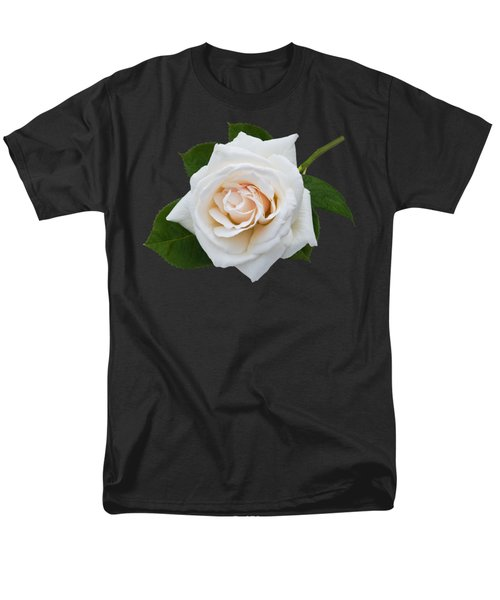 Men's T-Shirt  (Regular Fit) featuring the photograph White Rose by Jane McIlroy