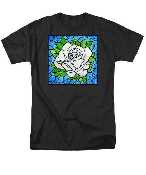 Men's T-Shirt  (Regular Fit) featuring the painting White Rose  by Jim Harris
