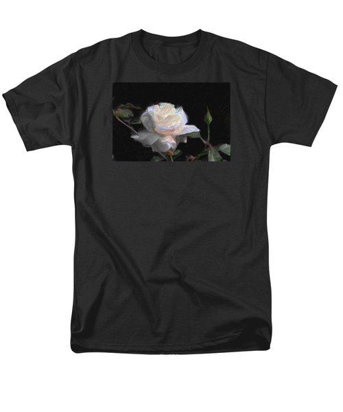 White Rose Painting Men's T-Shirt  (Regular Fit) by Don  Wright