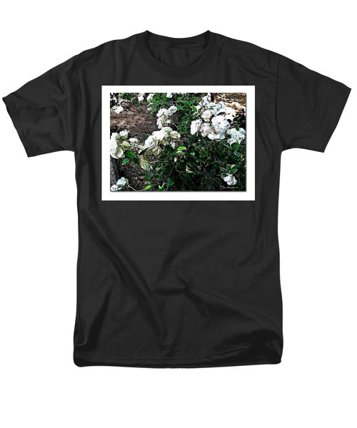 Men's T-Shirt  (Regular Fit) featuring the photograph White Roses by Joan  Minchak