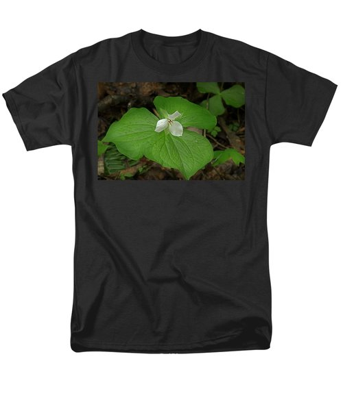 Men's T-Shirt  (Regular Fit) featuring the photograph White Spring Trillium by Mike Eingle