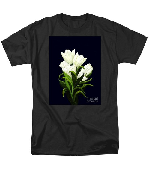 Men's T-Shirt  (Regular Fit) featuring the painting White Tulips by Patricia Griffin Brett