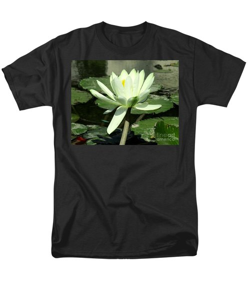 Men's T-Shirt  (Regular Fit) featuring the photograph White Water Lily 1 by Randall Weidner