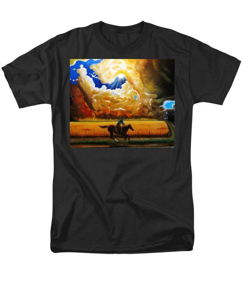 Men's T-Shirt  (Regular Fit) featuring the painting Wild Fire  by Gene Gregory