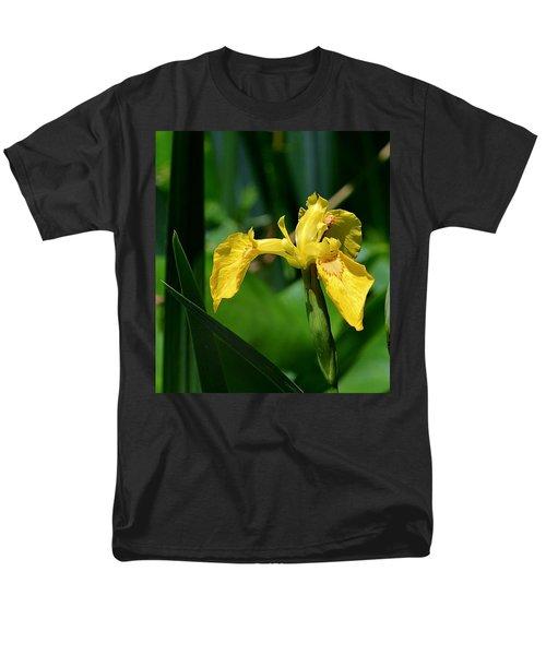 Wild Yellow Iris Men's T-Shirt  (Regular Fit) by Kathy Eickenberg
