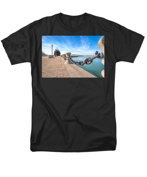 Men's T-Shirt  (Regular Fit) featuring the photograph William G. Mather At Harbor by Brent Durken