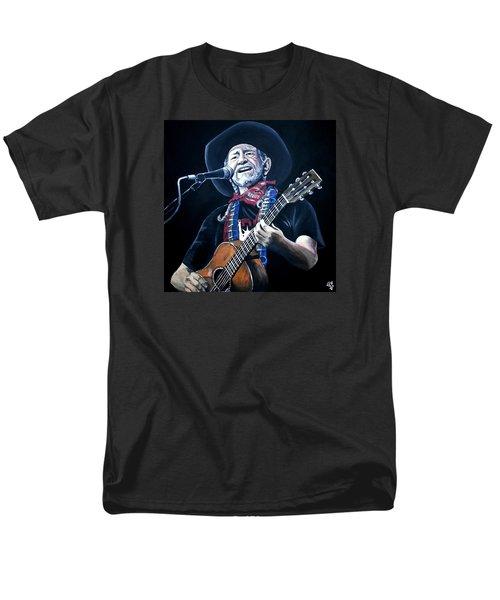 Willie Nelson 2 Men's T-Shirt  (Regular Fit) by Tom Carlton