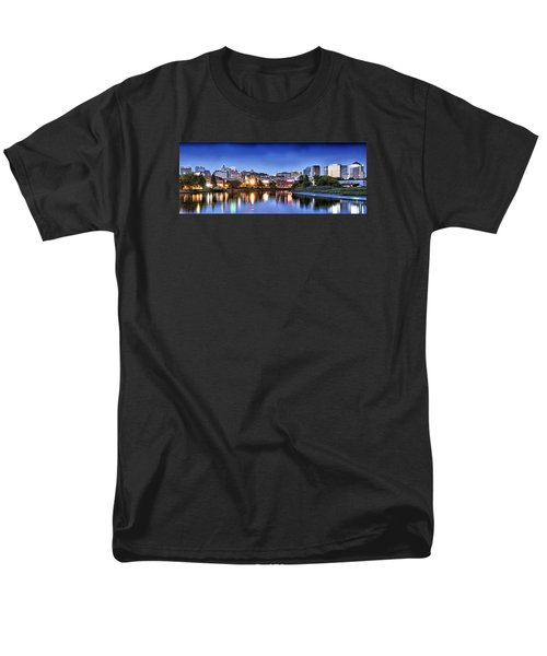 Wilmington Delaware - Skyline At Dusk Men's T-Shirt  (Regular Fit) by Brendan Reals